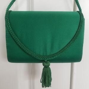 La Regale Emerald Green Crossbody Purse, Vintage